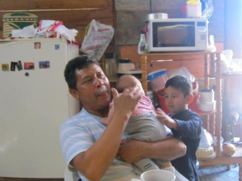 abuelo and emmanueal, lucia's neighbor/big brother
