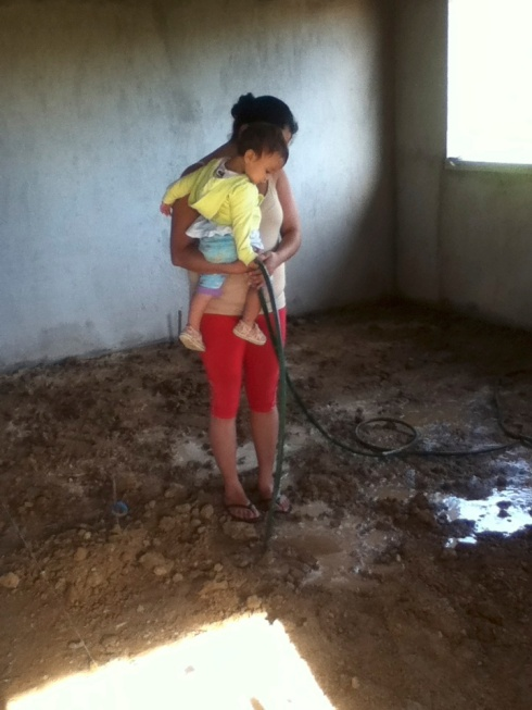our dirt floors (Lili and Lucia pictured)