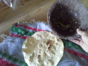 never-ending amounts of fresh tortillas (and homemade salsa): not good for my waistline