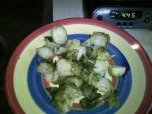 Brussel sprouts to my heart's content!