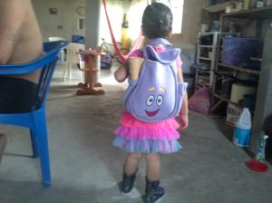 Dora backpack, complete with Map.