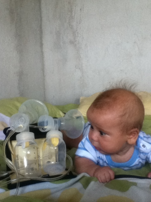 baby versus breast pump... or I guess I have to keep both