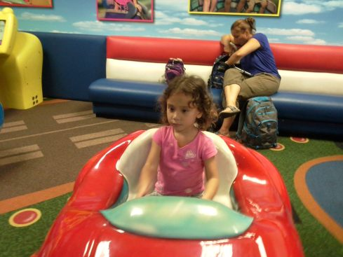 driving, of course, in the play area